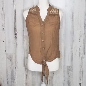 🎄Sleeveless Casual Knotted Top